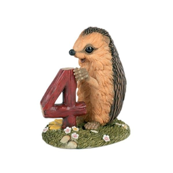 Age 4 -  Hedgies Collectors Hedgehog Birthday Figurine