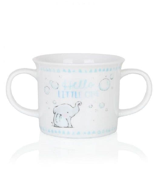Binky & Bubbles Blue Double Handled Mug
