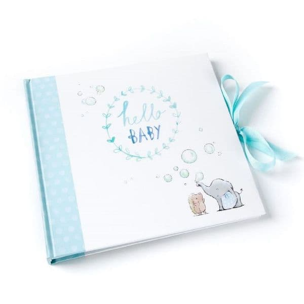 Binky & Bubbles Blue Photo Album Hello Baby