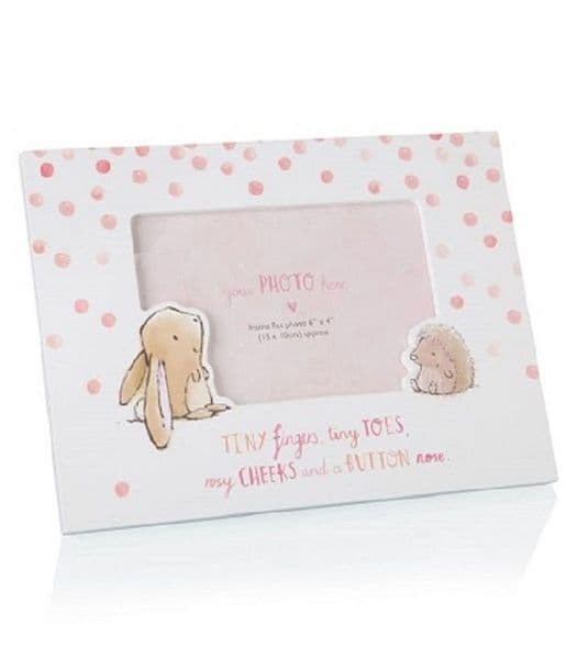Binky & Bubbles Pink Photo Frame Bunny & Hedgehog
