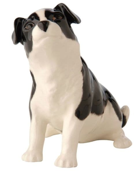 Black & White Border Collie Pup - John Beswick Dog Figurine