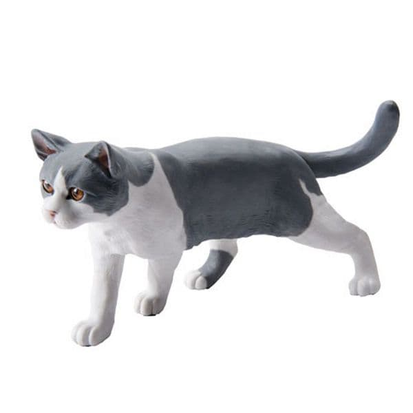 British Shorthair Grey and White Cat - John Beswick Connoisseur