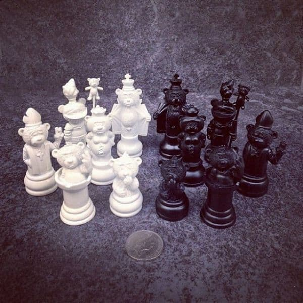 Chess Set and  Board  from Bad Taste Bears Collection