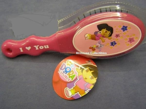 Dora The Explorer Nick Jr. Collectors Girls Hairbrush - I Love You