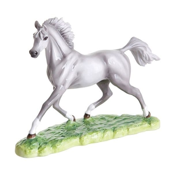 Grey Arab Stallion Ltd Ed Figurine by John Beswick # 71