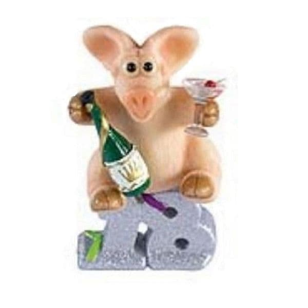 Happy 18th - Piggin Collectors Birthday Figurine