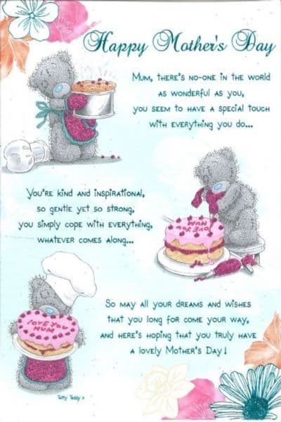 .Happy Mother's Day Me To You Mothers Day Card