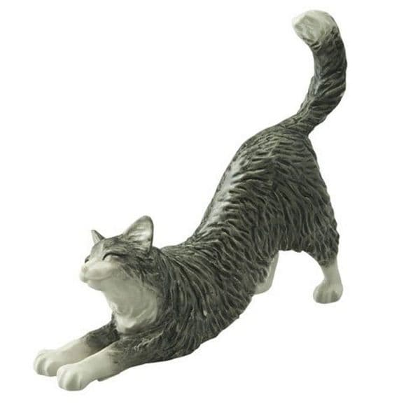 Long Haired Cat Stretching - John Beswick Collectors Figurine