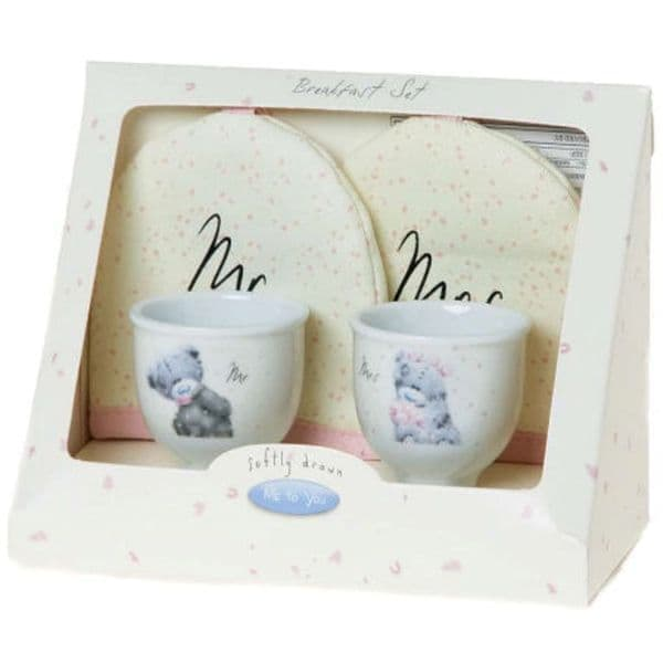 Me To You Tatty Teddy Wedding Breakfast Set - 2 Egg Cup and Covers