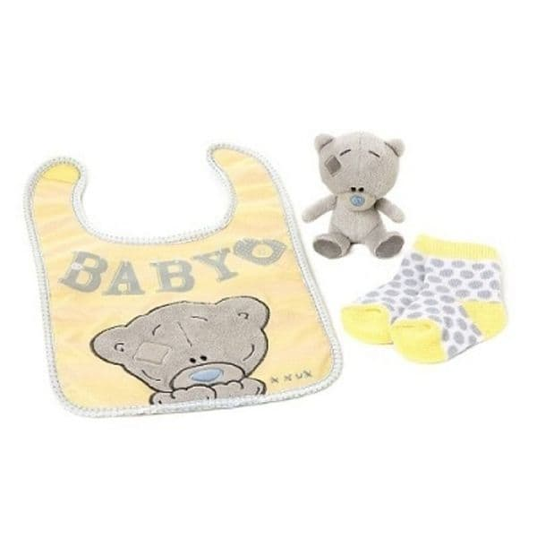 Socks Bib & Plush Set from Me to You Tiny Tatty Teddy Collection