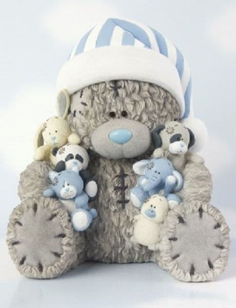 Tatty Teddy with My Blue Nose Friends Collectors Figurine