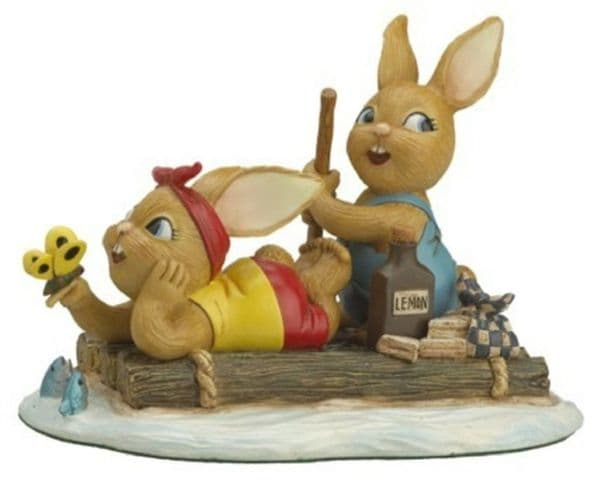 The Raft - PenDelfin Rabbit Collectors Limited Edition Figurine # 400