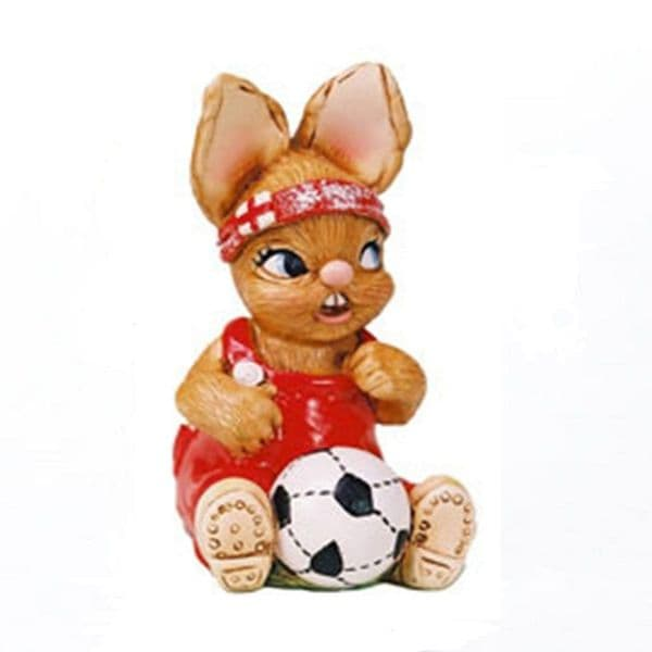 Wannabe - PenDelfin Rabbit Collectors Figurine with Red Football Shirt