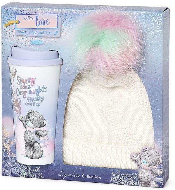 Winter Hat & Travel Mug Gift Set from Me to You Collection