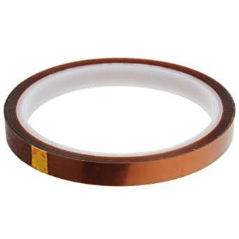 10 HEAT TRANSFER RESISTANT TAPE ADHESIVE 10mm x 33m POLYIMIDE for SUBLIMATION MUG CERAMICS