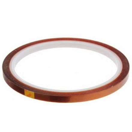10 HEAT TRANSFER RESISTANT TAPE ADHESIVE 5mm x 33m POLYIMIDE for SUBLIMATION MUG CERAMICS