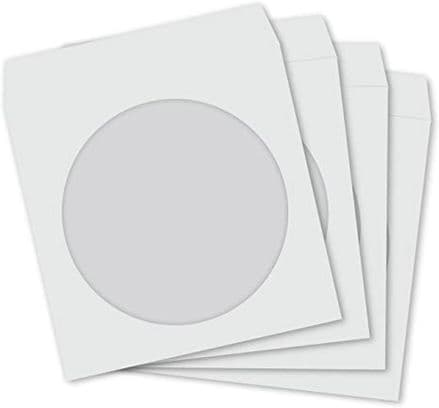 100 NEO  CD DVD Paper Sleeves with Window