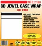 200 HUMLIN Clear CD WRAP for 10.4mm Standard JEWEL CASE with sealable FLAP CS09A