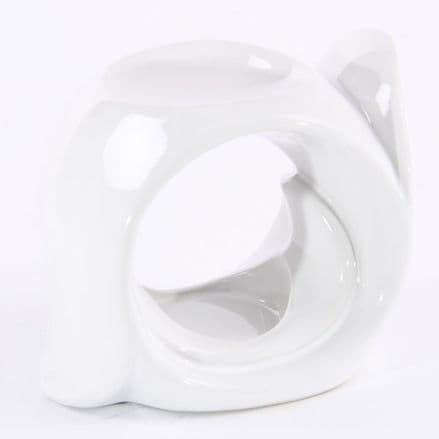 Ceramic Oil Burner Gloss White OB012