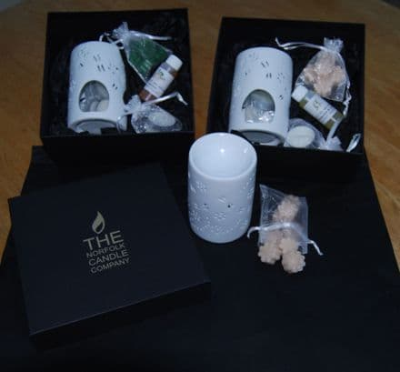Ceramic Oil Burner Kit - Lime Basil & Mandarin