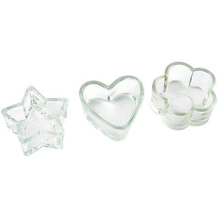 Glass Tealight Holders Set of 3