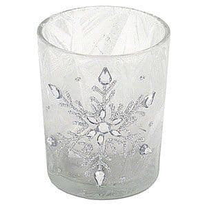 Snowflake Candle Votive Silver
