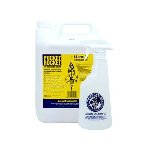 1017C POCKET ROCKET High Spec. Penetrating Moisture Repellent 5L with FREE Sprayer - Pack of 4 x 5L