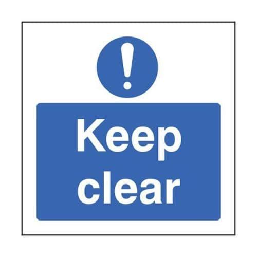 11632G Keep clear sign - Rigid Plastic (300x100mm)
