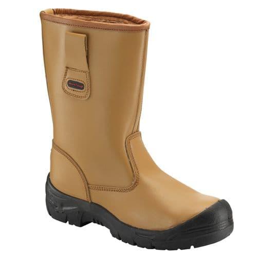 118SCM Tan WorkTough Rigger Boot