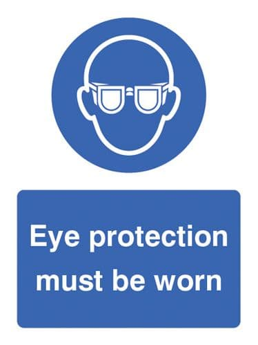 15003K Eye protection must be worn Rigid Plastic (400x300mm) Safety Sign