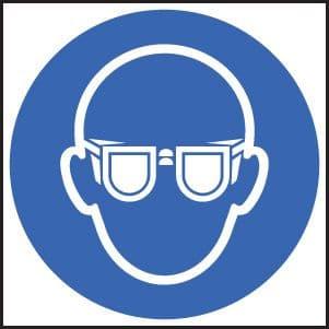 15006N Goggles symbol Rigid Plastic (400x400mm) Safety Sign