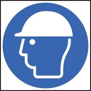15015F Safety helmet symbol Rigid Plastic (200x200mm) Safety Sign