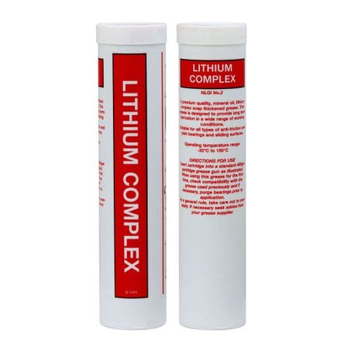 1512 RED LITHUM COMPLEX GREASE Multi-purpose Lithium Complex Grease Cartridge - Pack of 12 x 400g