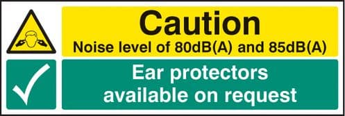 15223G Noise level 80dB(A) & 85DB(A) ear protectors available on request Rigid Plastic (300x100mm)