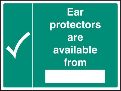 15224K Ear protectors available from Rigid Plastic (400x300mm) Safety Sign