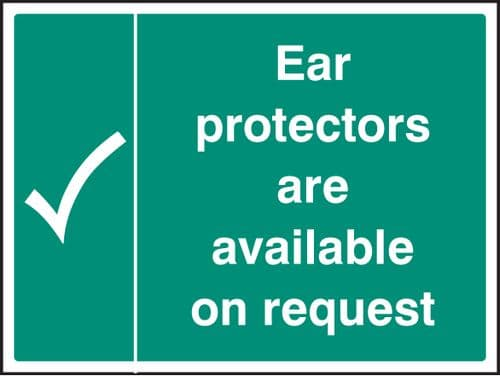 15225H Ear protectors are available on request Rigid Plastic (300x250mm) Safety Sign
