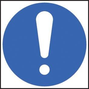 15412F Exclamation mandatory Rigid Plastic (200x200mm) Safety Sign