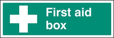 16014M First aid box Rigid Plastic (600x200mm) Safety Sign