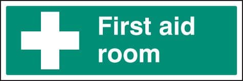 16015M First aid room Rigid Plastic (600x200mm) Safety Sign