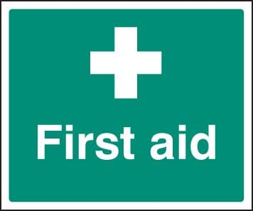 16019H First aid Rigid Plastic (300x250mm) Safety Sign