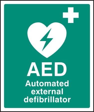 16052H AED Automated external defibrillator Rigid Plastic (300x250mm) Safety Sign