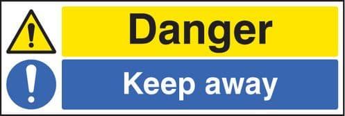 16217M Danger keep away Rigid Plastic (600x200mm) Safety Sign