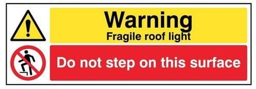 24299G Danger Fragile roof light Do not step on this surface Safety Sign