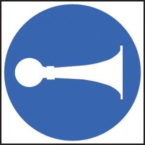 25410F Sound horn symbol Self Adhesive Vinyl (200x200mm) Safety Sign