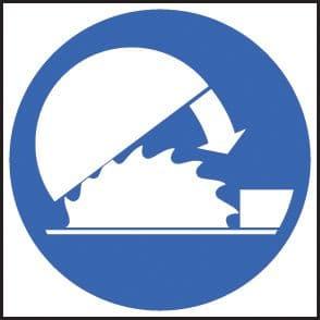 25411F Adjustable guards symbol Self Adhesive Vinyl (200x200mm) Safety Sign