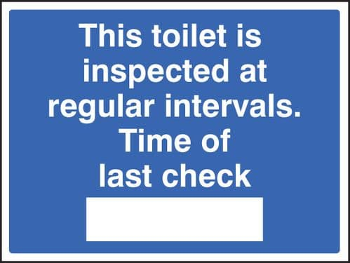 25430K This toilet is inspected Self Adhesive Vinyl (400x300mm) Safety Sign
