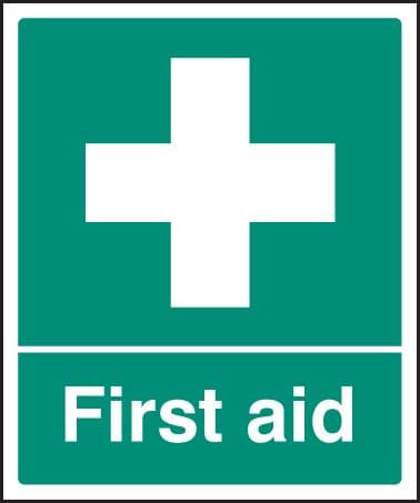26002H First aid Self Adhesive Vinyl (300x250mm) Safety Sign