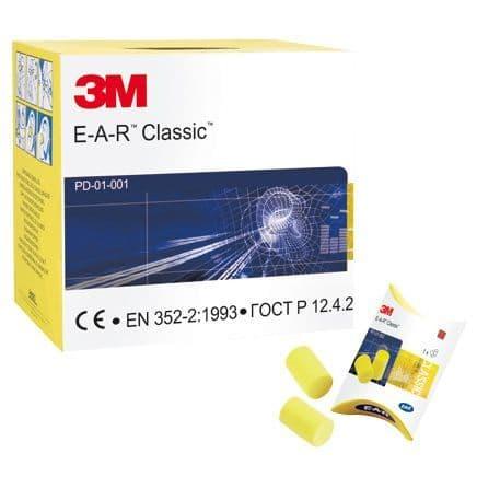 3M EAR Classic Ear Plugs - 250 Pairs