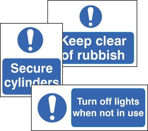 59273 Std mandatory 300x100mm self-adhesive  (300x100mm) Safety Sign