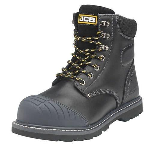 5CX+/B Black JCB Side Zip Safety Boot